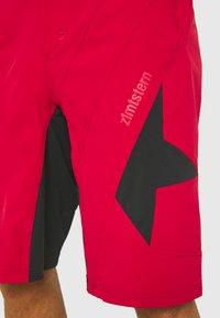 Zimtstern - TAURUZ EVO SHORT MENS - Sportovní kraťasy - jester red/pirate black - 3