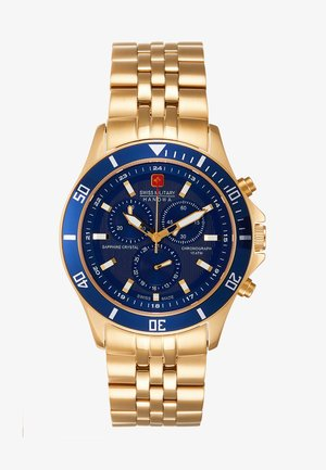FLAGSHIP - Chronograph watch - gold-coloured/blue