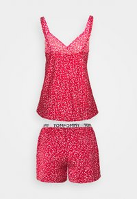 Tommy Hilfiger - CAMI SHORT PRINT SET - Pyjamas - primary red - 1