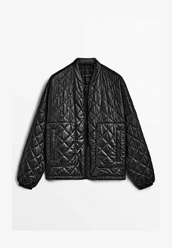 GESTEPPTE - Light jacket - black