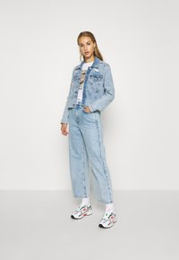 Hollister Co. - CROPPED JACKET - Denim jacket - blue denim - 1