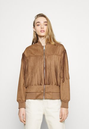 BLAKE FRINGE JACKET - Bombertakki - brown