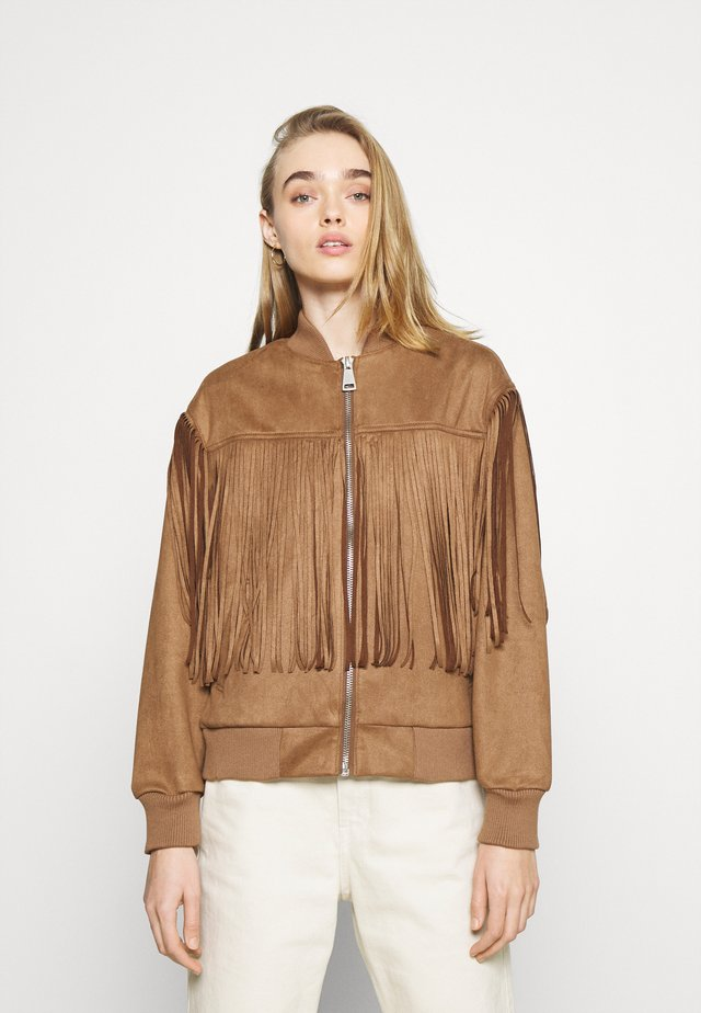 BLAKE FRINGE JACKET - Giubbotto Bomber - brown