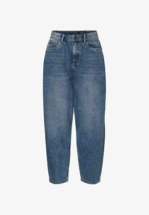 HIGH-WAIST - Relaxed fit jeans - medium blue denim