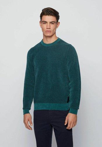 KAFURLIO - Stickad tröja - open green