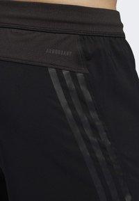 adidas Performance - AEROREADY 3-STRIPES 8-INCH SHORTS - Pantalón corto de deporte - black - 6