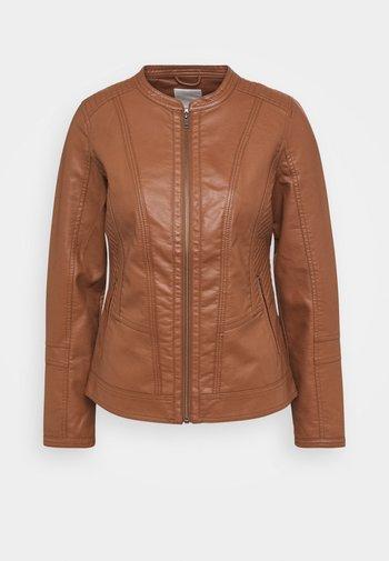SC-AMALIE 4 - Faux leather jacket - brown
