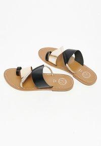 White Sun - COLIN  - T-bar sandals - black - 1