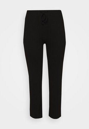 WIDE PANT LOUNGE CURVE - Tracksuit bottoms - black