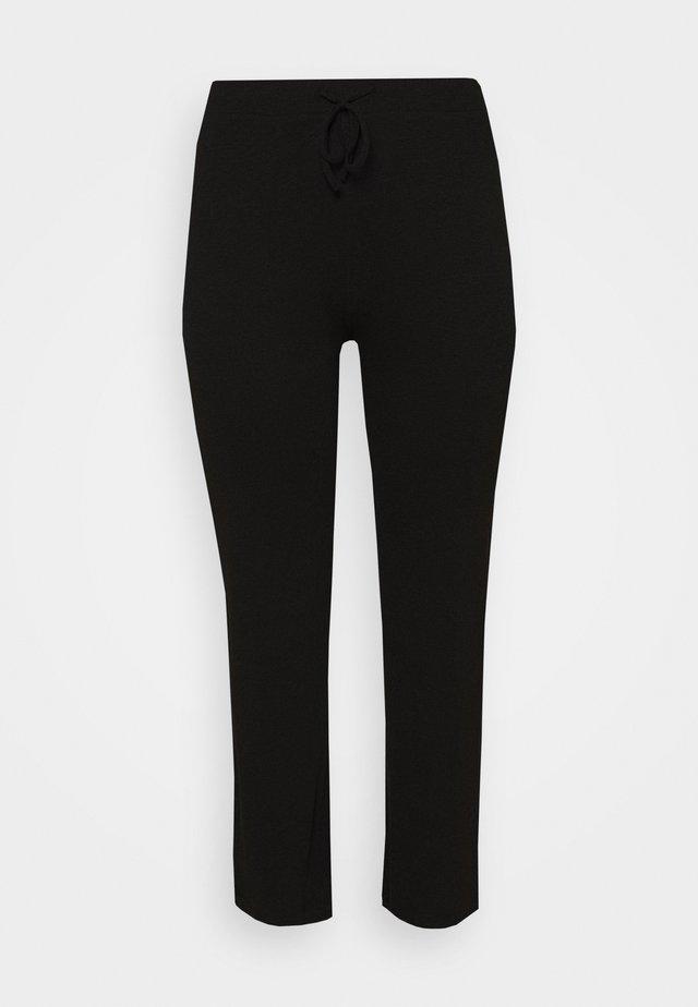 WIDE PANT LOUNGE CURVE - Teplákové kalhoty - black