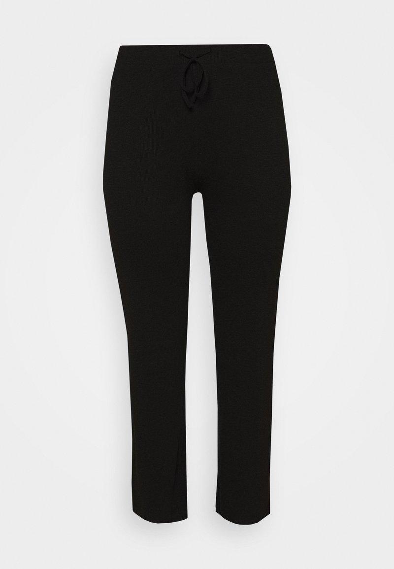 Pieces Curve - WIDE PANT LOUNGE CURVE - Teplákové kalhoty - black