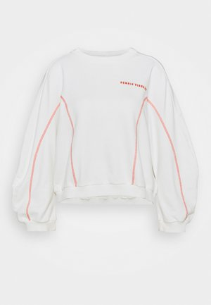 FUNNEL  - Sweatshirt - off-white/orange