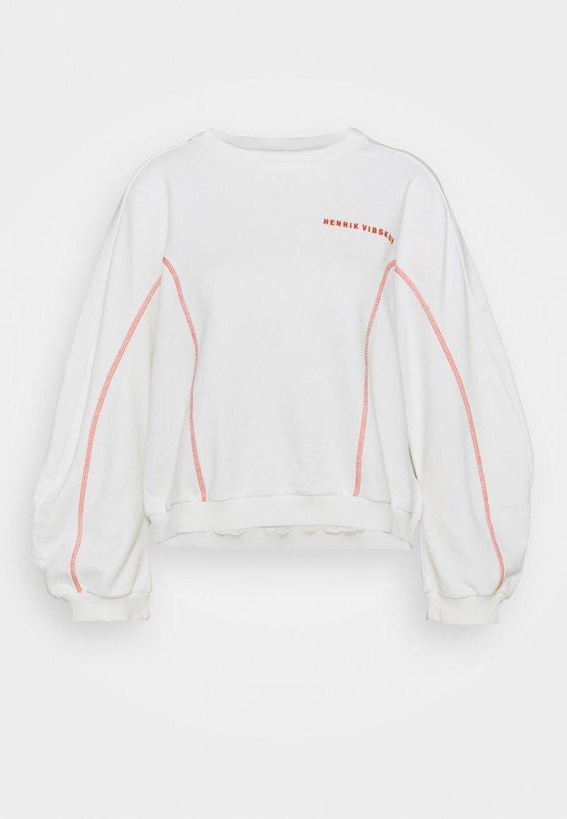 FUNNEL  - Sweater - off-white/orange