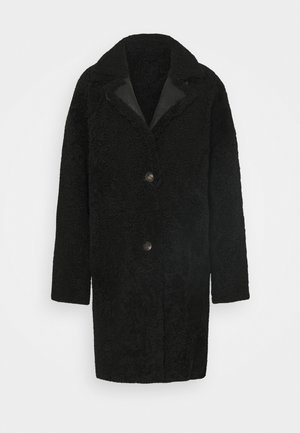 REVERSIBLE CURLY FLORANCE - Classic coat - black antracite