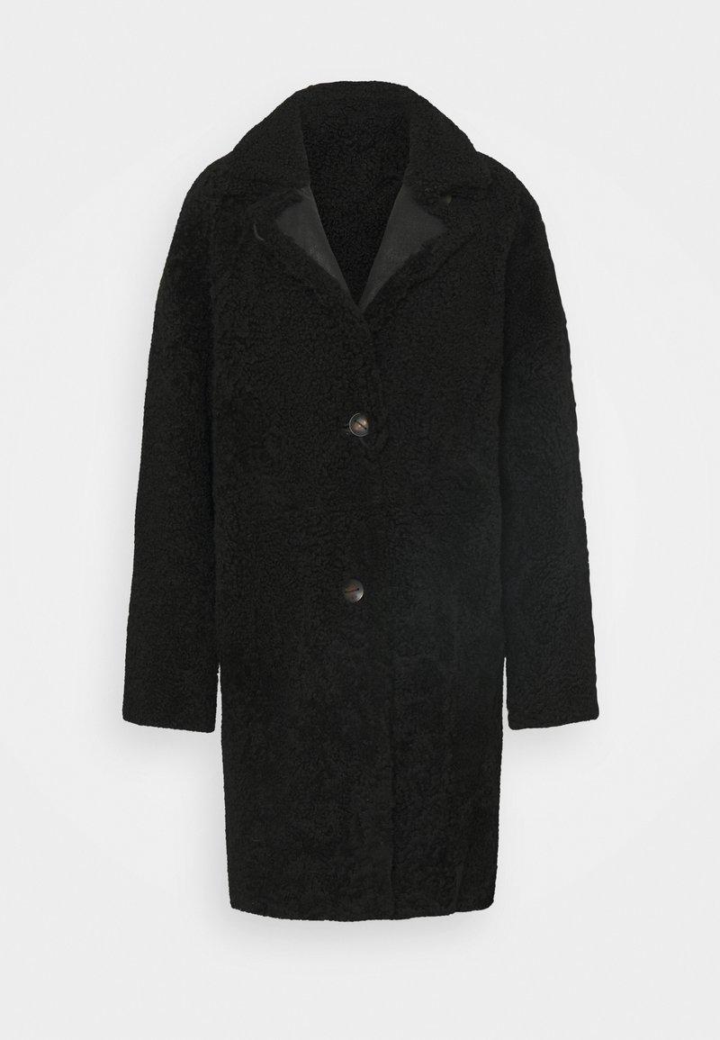 VSP - REVERSIBLE CURLY FLORANCE - Klasyczny płaszcz - black antracite