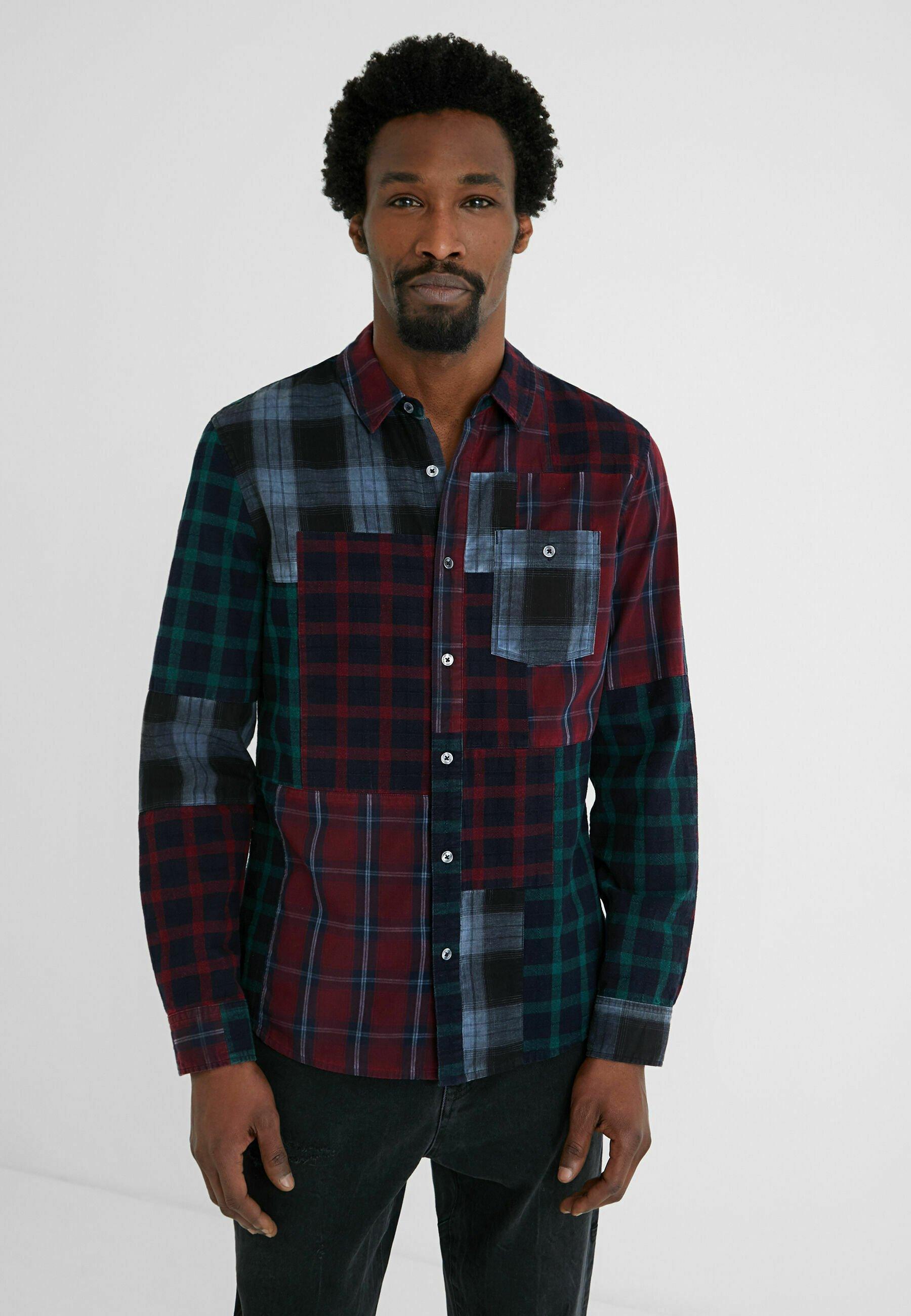 Uomo REGULAR  PATCH TARTAN - Camicia