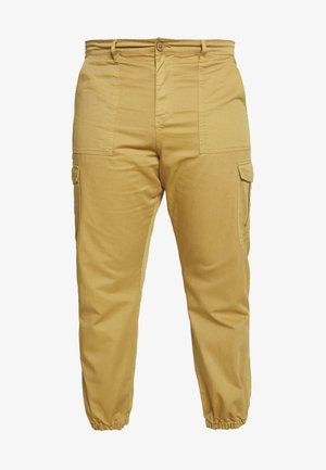 PLUS TROUSERS - Cargo trousers - sand