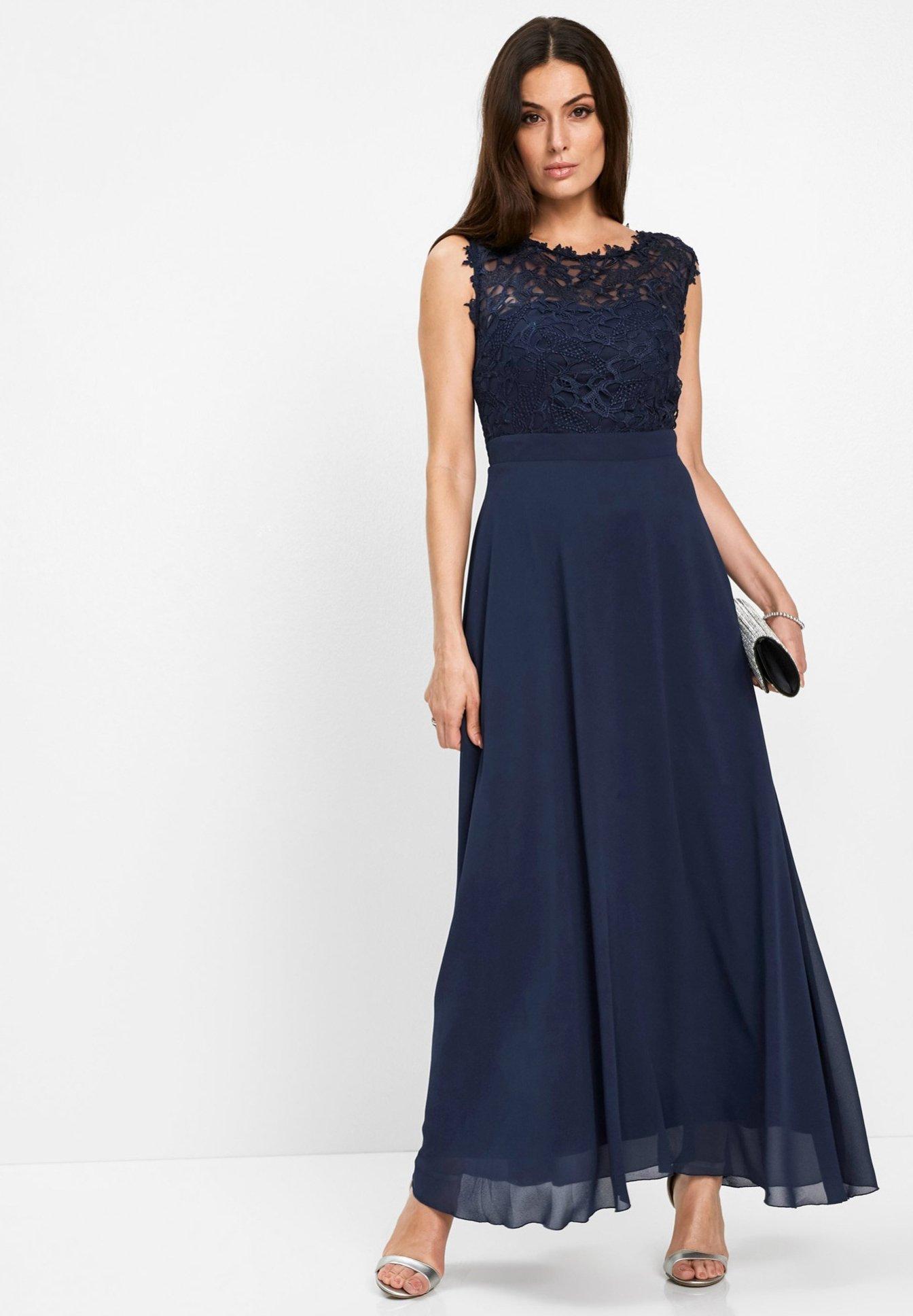 Bonprix Mit Spitze Edles Abendkleid Cocktailkleid Festliches Kleid Blau Dunkelblau Zalando Ch