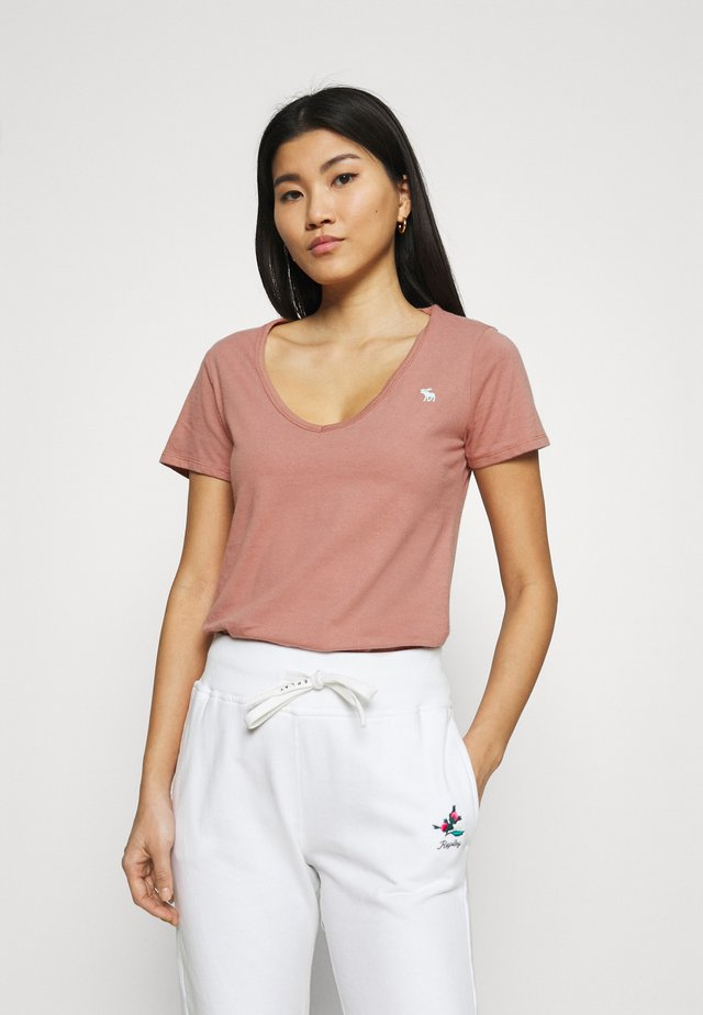 VNECK 3 PACK - T-Shirt basic - light blue/white/dark pink