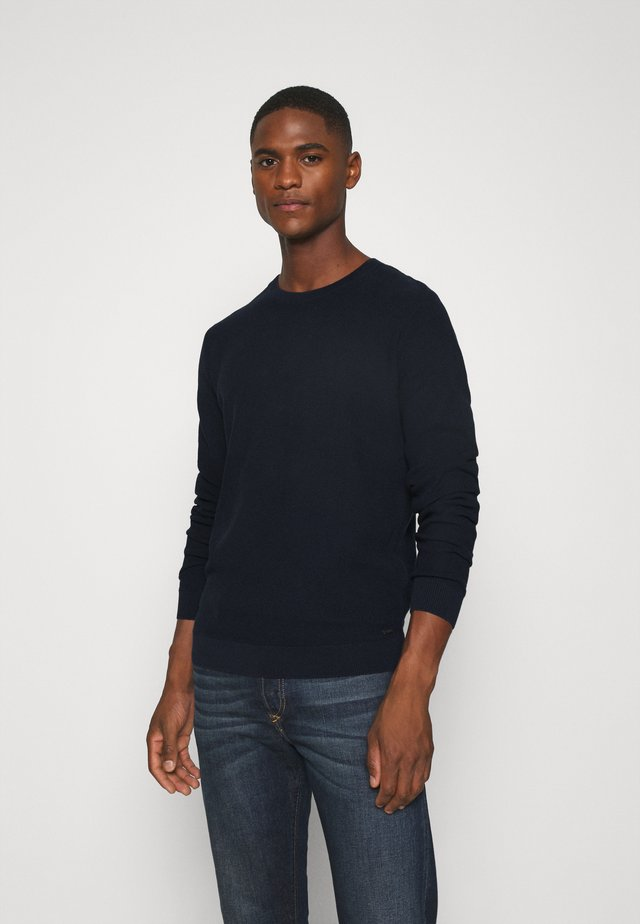 FINE STRUCTURED  - Sweter - dark blue