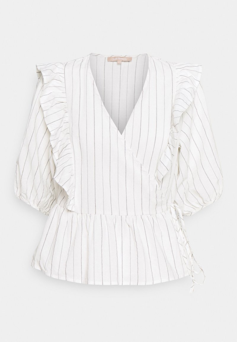 Soft Rebels - VICKIE WRAP TOP - Blouse - snow white/off white