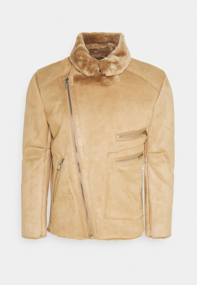 AVIATOR JACKET WITH SHERPA - Giacca leggera - brown