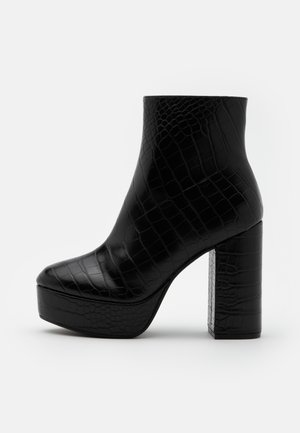 VEGAN MALINKA BOOT - High heeled ankle boots - black