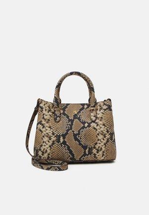 MARCY SATCHEL MINI PYTHON - Handbag - nude