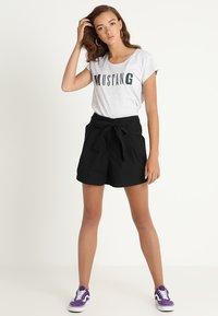 Mustang - LOGO - Print T-shirt - light grey melange - 1