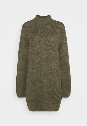 NMEDEN HIGH NECK DRESS  - Vestido de punto - kalamata