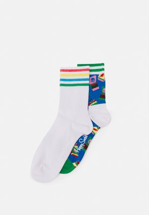 MATCHES 3/4 CREW SOCK COLOUR CUFF 3/4 CREW SOCK UNISEX 2 PACK - Socks - multi-coloured