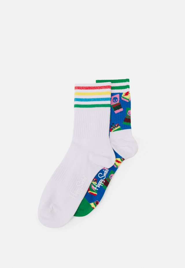 MATCHES 3/4 CREW SOCK COLOUR CUFF 3/4 CREW SOCK UNISEX 2 PACK - Chaussettes - multi-coloured