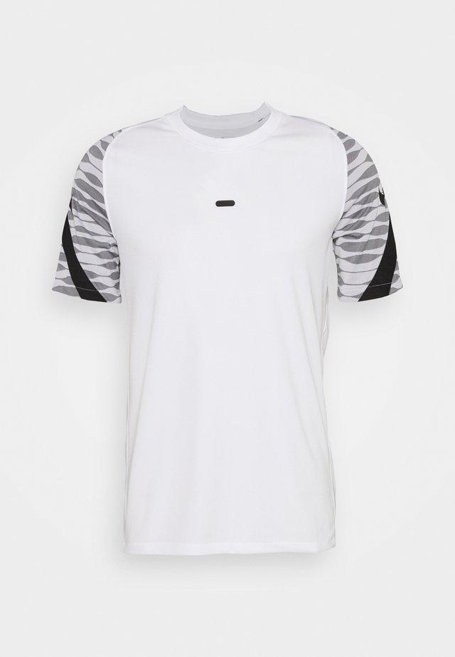 Print T-shirt - white/black/black/black