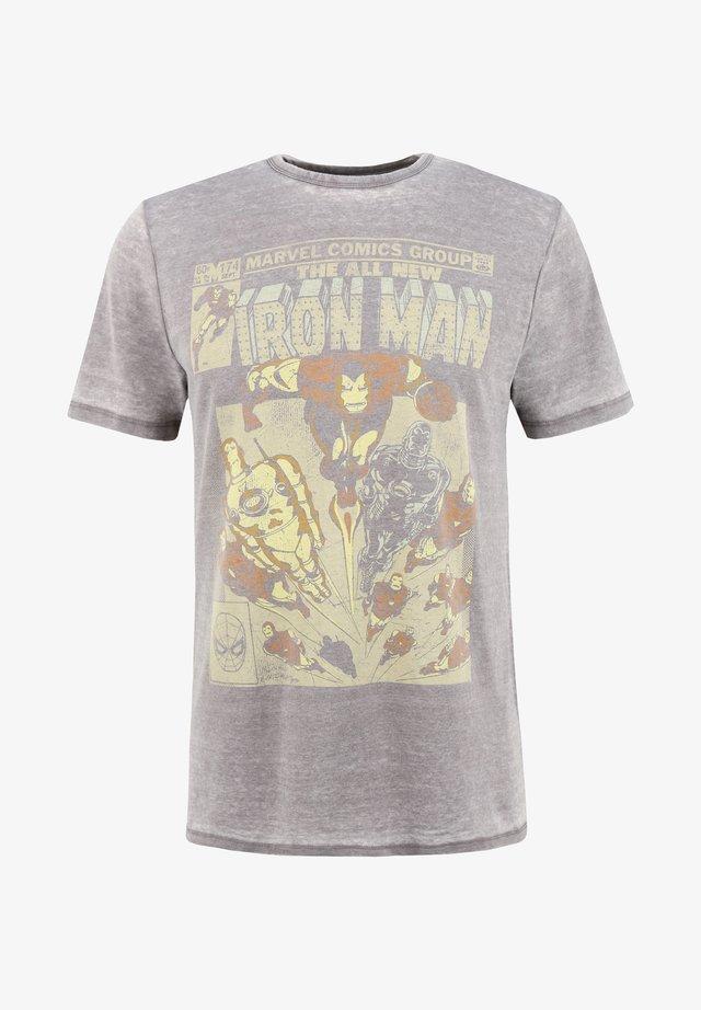 MARVEL IRON MAN - T-shirt med print - grau