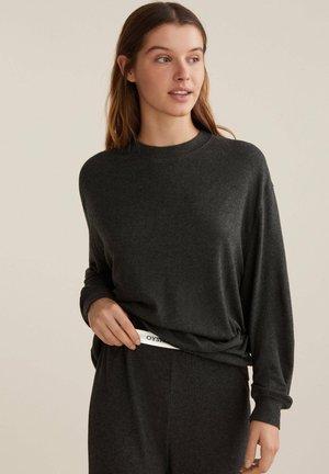 PLAIN SOFT-TOUCH - Pyžamový top - dark grey