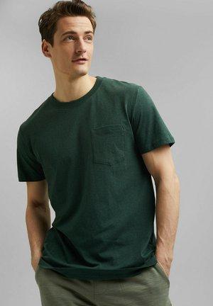 SLIM FIT - Basic T-shirt - teal blue