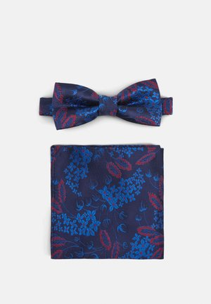 ONSTUCKER PATTERN BOWTIE SET - Pocket square - dark navy