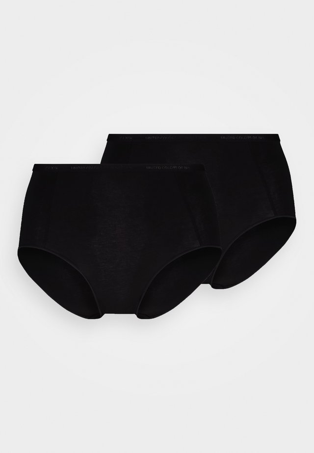 HIGH SIDE COULOTTES LOGO 2 PACK - Panties - black