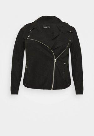 ESUS JACKET  - Faux leather jacket - black