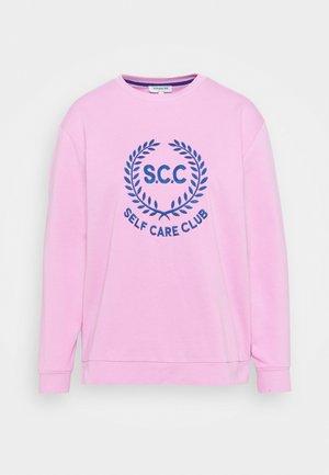 SLOGAN CREW NECK - Sweatshirt - pink