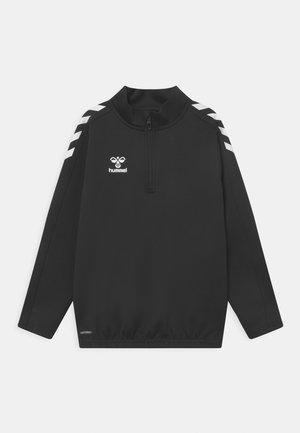 CORE HALF ZIP UNISEX - Funkční triko - black