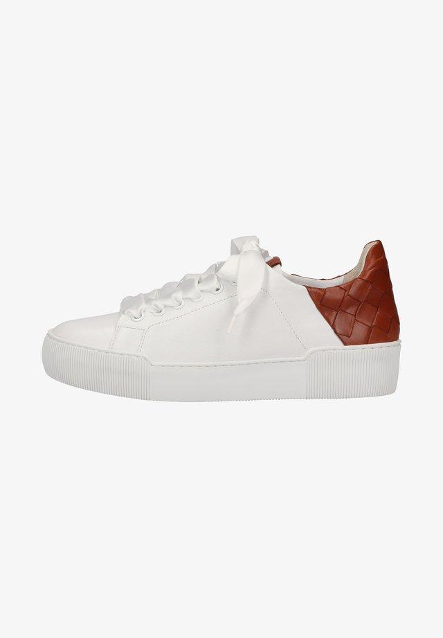 Sneakers laag - weiss nut