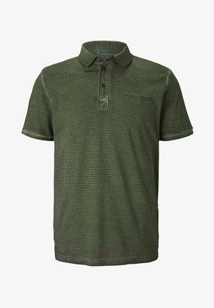POLOSHIRTS GESTREIFTES POLOSHIRT MIT KLEINER STICKEREI - Polo shirt - olive night green