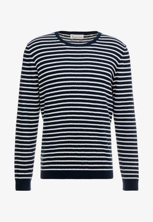 THE ORGANIC MULTISTRIPED KNIT - Sweter - navy blazer