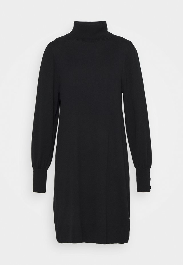 ROLL NECK SWING DRESS - Jumper dress - black