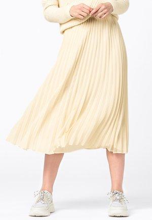Pleated skirt - creme