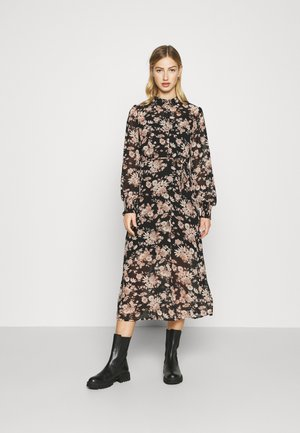 VIVINDI FUNKEL SHIRT DRESS - Skjortekjole - black/flowers