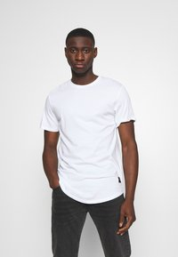 Only & Sons - ONSMATT LONGY TEE 3 PACK - Basic T-shirt - light grey melange/white gray/black - 3