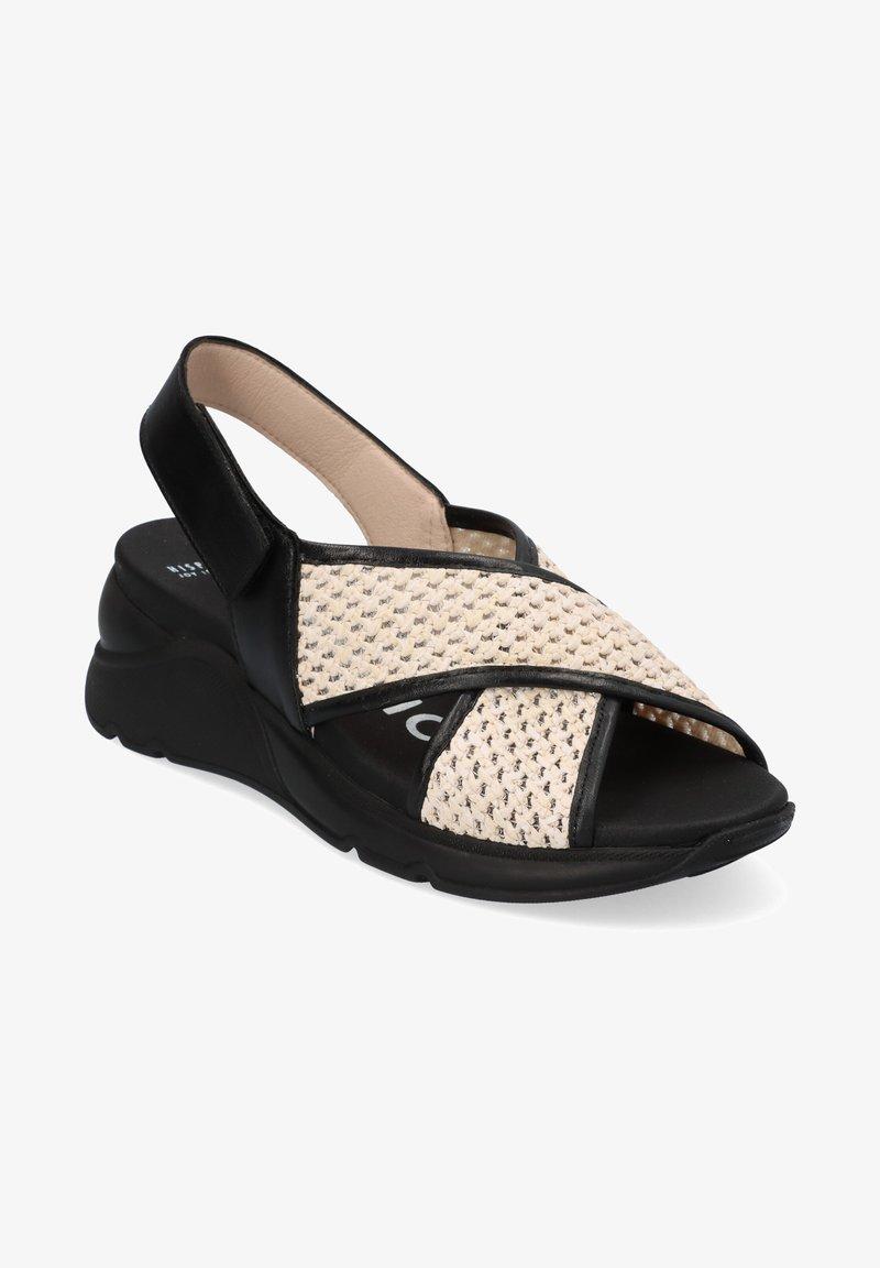 Hispanitas - Sandalen met sleehak - black