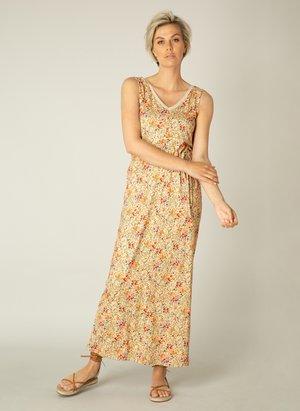 Maxi dress - peach/ multi color